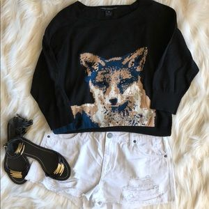 Light weight French connection fox face sweater